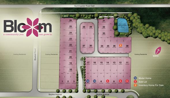 Bloom Siteplan | Wastell Homes